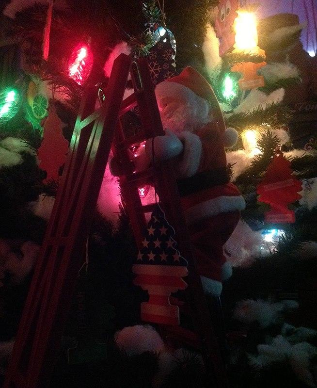 2013.11.25 SANTA WITH LITTLE TREES